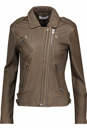 IRO Distressed leather biker jacket