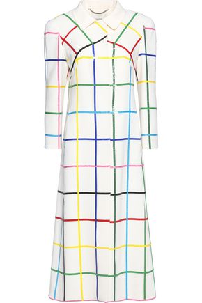 MARY KATRANTZOU Sequined-embellished wool coat