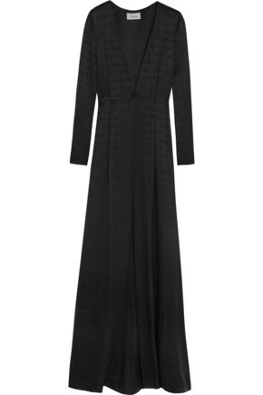 TEMPERLEY LONDON Silk satin-jacquard coat