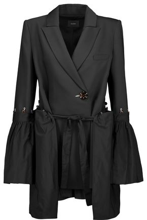 ELLERY Riot paneled gathered twill and canvas jacket