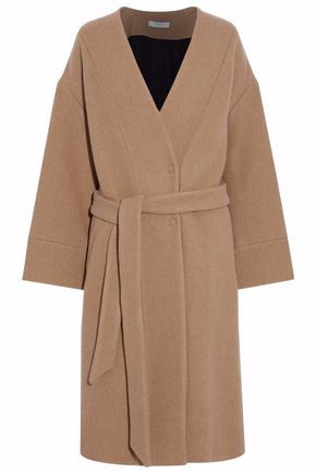 IRO Belted wool-blend piqué coat