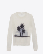 SAINT LAURENT Knitwear Tops D SUNSET sweater in off-white mohair f
