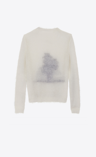 SAINT LAURENT Knitwear Tops Woman SUNSET sweater in off-white mohair b_V4