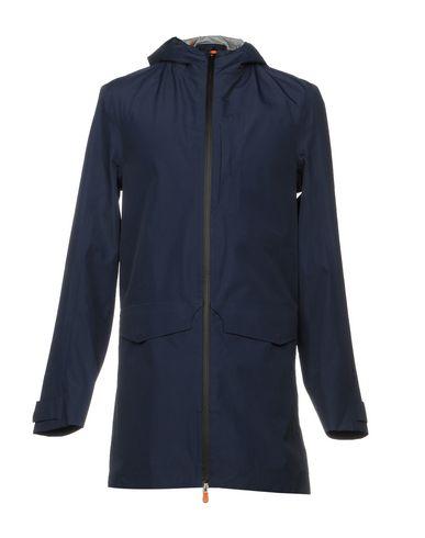 Фото - Легкое пальто от SAVE THE DUCK темно-синего цвета