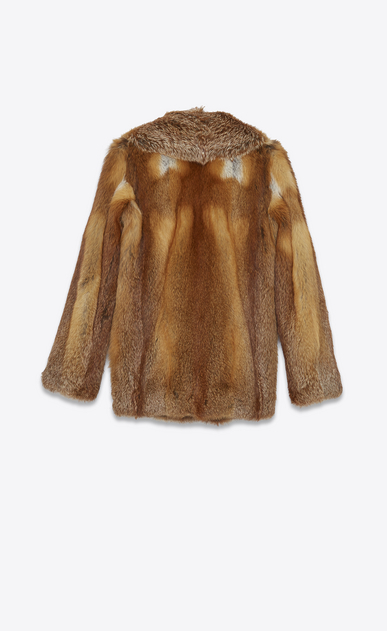 SAINT LAURENT Coats D Pea coat in brown fox b_V4