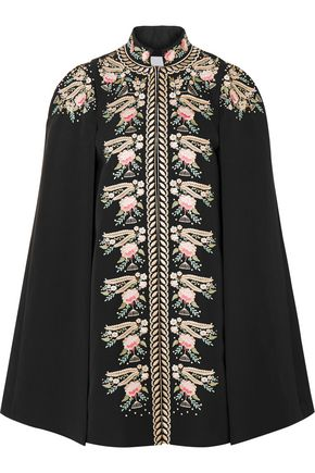 VILSHENKO Darcy embroidered cotton cape