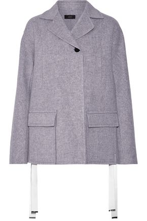 JOSEPH Caplan split-side wool and cashmere-blend coat
