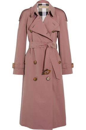 BURBERRY The Haughton cotton-gabardine trench coat