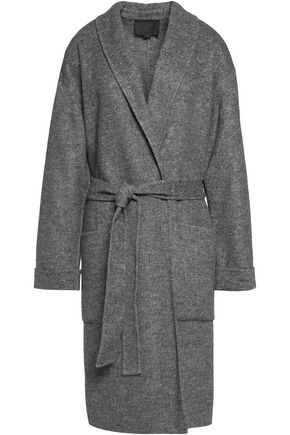 ALEXANDER WANG Tie-front brushed woven coat