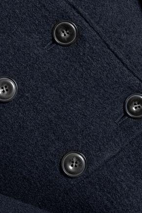 GOEN.J Tiered wool-felt coat