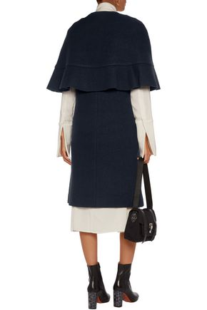 GOEN.J Tiered wool-felt coat