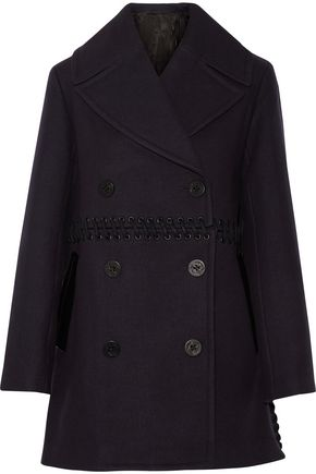 3.1 PHILLIP LIM Whipstitched wool-blend peacoat