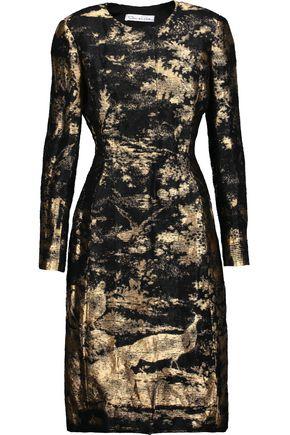 OSCAR DE LA RENTA Metallic shantung coat