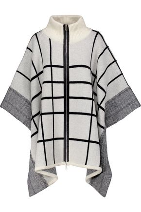 RAG & BONE Mallori checked merino wool cape