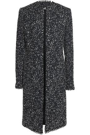 OSCAR DE LA RENTA Pompom-trimmed bouclé coat