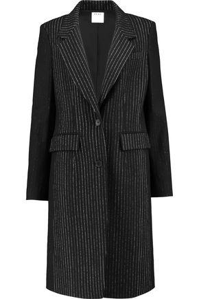 DKNY Pinstriped wool-blend coat