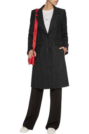 DKNY Pinstriped wool-blend coat