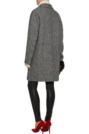 CARVEN Oversized wool-blend tweed coat