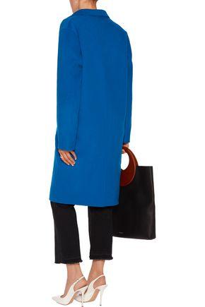 SANDRO Felted wool-blend coat