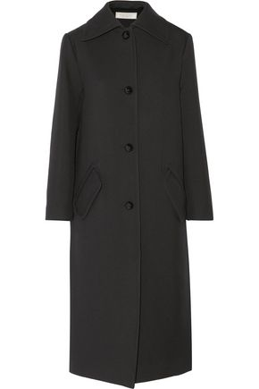 NINA RICCI Wool and silk-blend twill coat