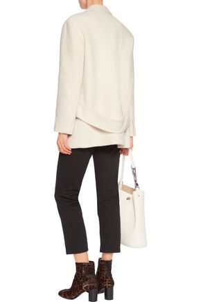 SANDRO Felted cotton and wool-blend coat