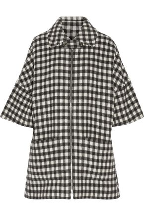 A.P.C. Granville gingham wool-blend coat