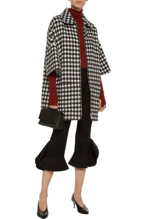 A.P.C. Granville gingham wool-blend coat