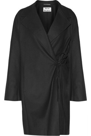 ACNE STUDIOS Ember tie-front wool and cashmere-blend coat