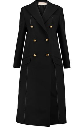NINA RICCI Double-breasted wool-blend twill coat