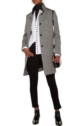 MAJE Knit-trimmed bouclé coat