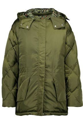 SANDRO Starman satin-shell hooded jacket