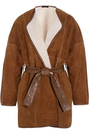 JOSEPH Maud belted shearling coat