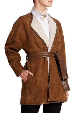 JOSEPH Suede shearling coat