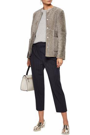 MAX MARA Crinkled-shearling jacket