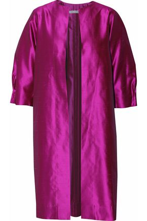 OSCAR DE LA RENTA Pleated silk-shatung jacket