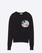 SAINT LAURENT Knitwear Tops U Sailor sweater with SUNSET patch and black ribbing f