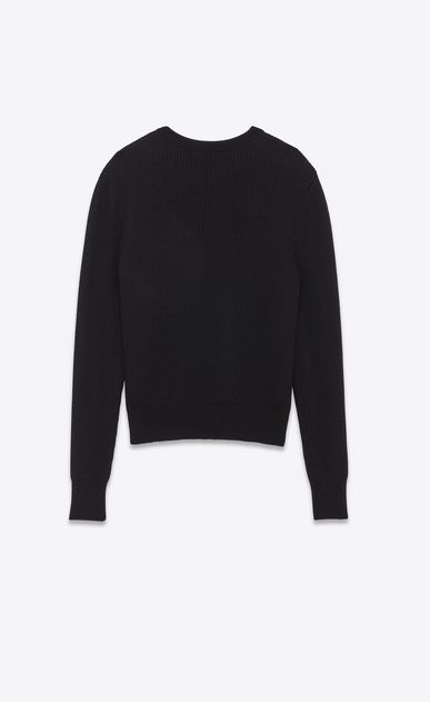 SAINT LAURENT Knitwear Tops U Sailor sweater with SUNSET patch and black ribbing b_V4