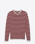 SAINT LAURENT Knitwear Tops U Sailor sweater with black and red stripes f