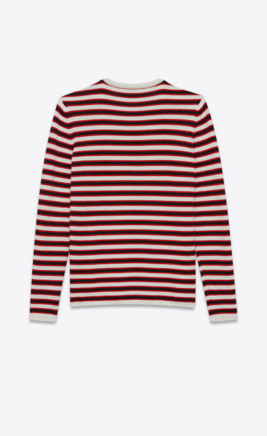 SAINT LAURENT Knitwear Tops Man Sailor sweater with black and red stripes b_V4