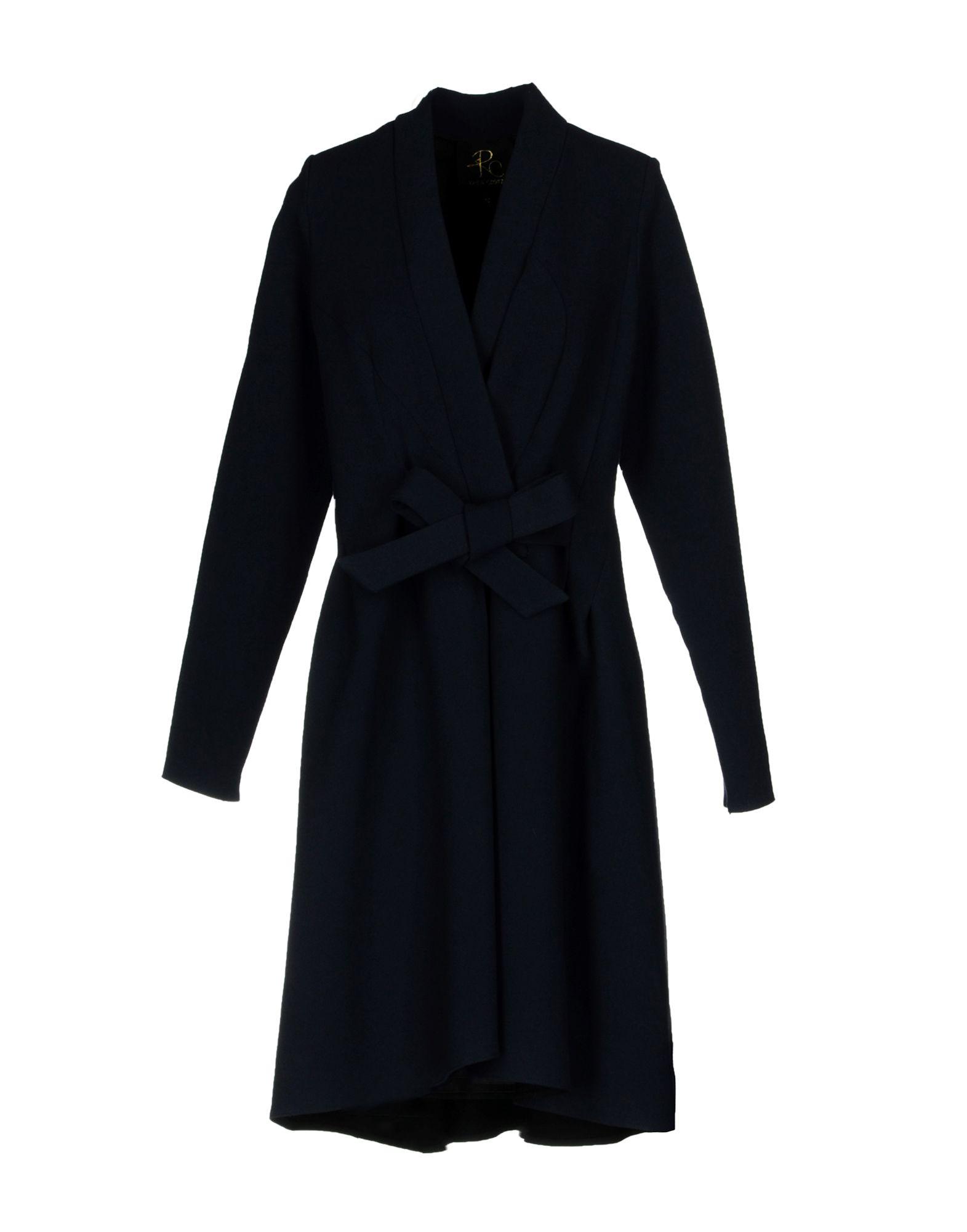 RHEA COSTA Coat in Dark Blue