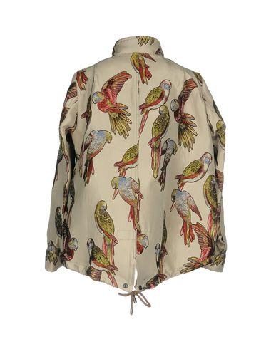 Фото 2 - Женскую куртку BOTTEGA MARTINESE бежевого цвета
