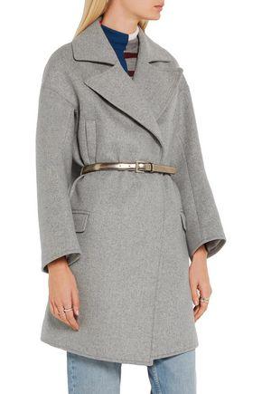 ... GOLDEN GOOSE DELUXE BRAND Belted wool-blend coat ...