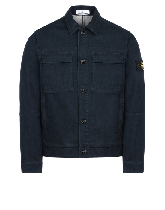 STONE ISLAND Manteau en jean 43932 FOAM RESIN TREATED DENIM, WASH