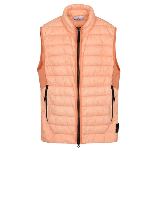 STONE ISLAND Vest G0124 GARMENT-DYED MICRO YARN DOWN_PACKABLE