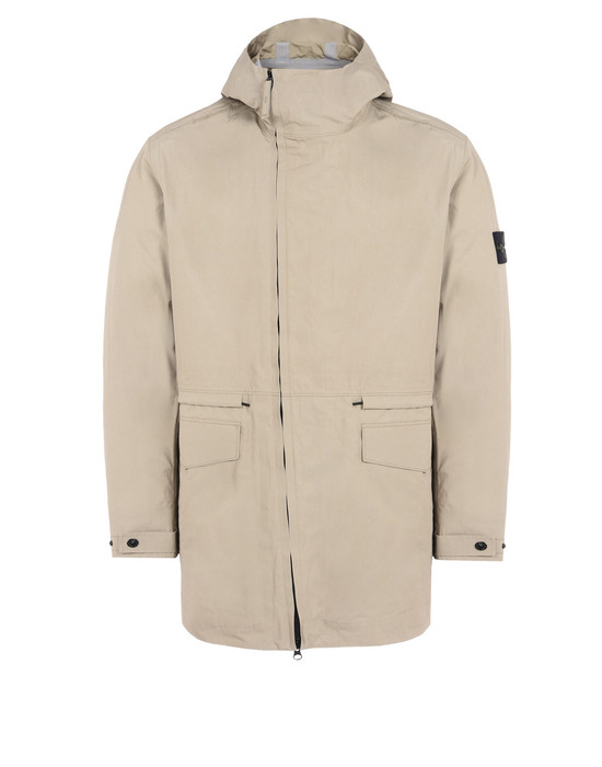 STONE ISLAND LONG JACKET 44225 WATER REPELLENT SUPIMA COTTON