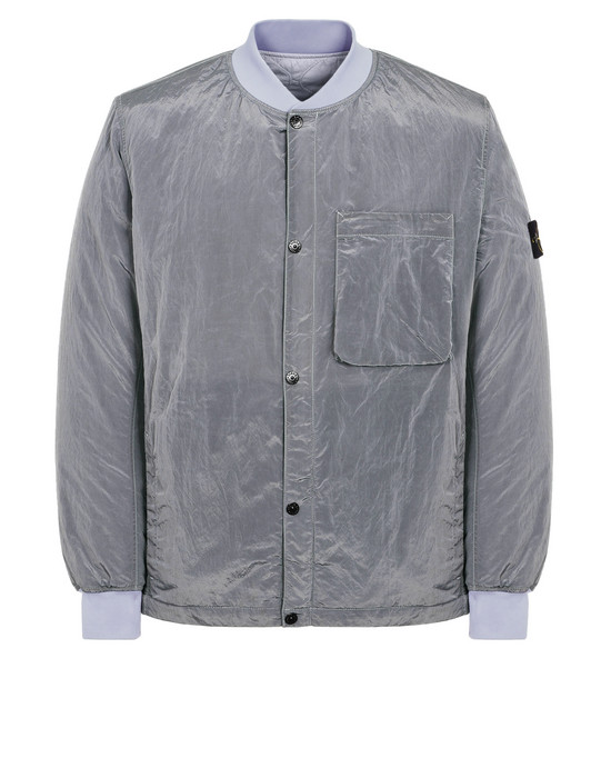STONE ISLAND MID-LENGTH REVERSIBLE JACKET 43145 NYLON METAL_REVERSIBLE