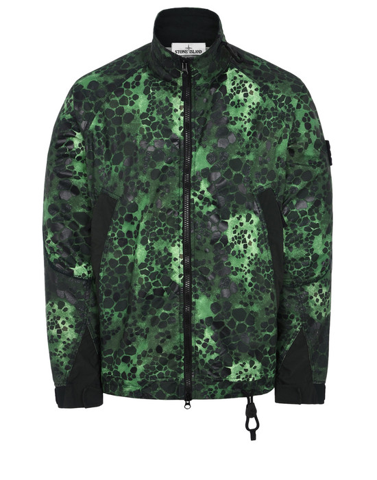 STONE ISLAND LIGHTWEIGHT JACKET 446E1 ALLIGATOR CAMO LIGHT COTTON-NYLON REP