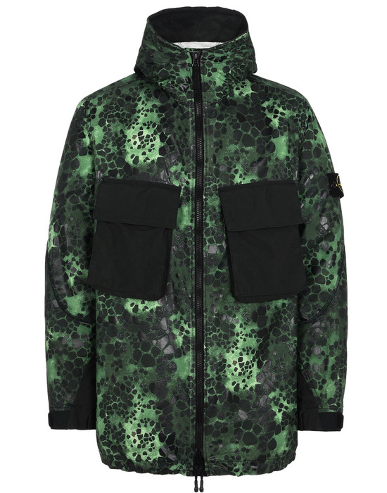STONE ISLAND Jacket 707E1 ALLIGATOR CAMO LIGHT COTTON-NYLON REP