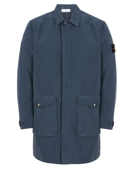 LONG JACKET 70351 DAVID TELA LIGHT-TC  STONE ISLAND - 0