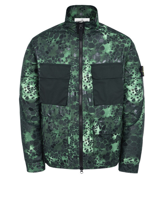 STONE ISLAND Jacket 454E2 ALLIGATOR CAMO LIGHT COTTON-NYLON TELA